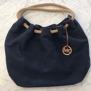 Michael kors navy blue shoulder bag 100% authentic